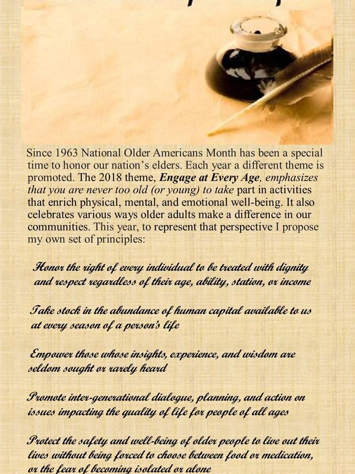 Older Americans Month principles