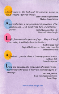 Wisdom Of Age Book Testimonials