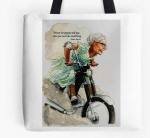 Bad granny tote bag